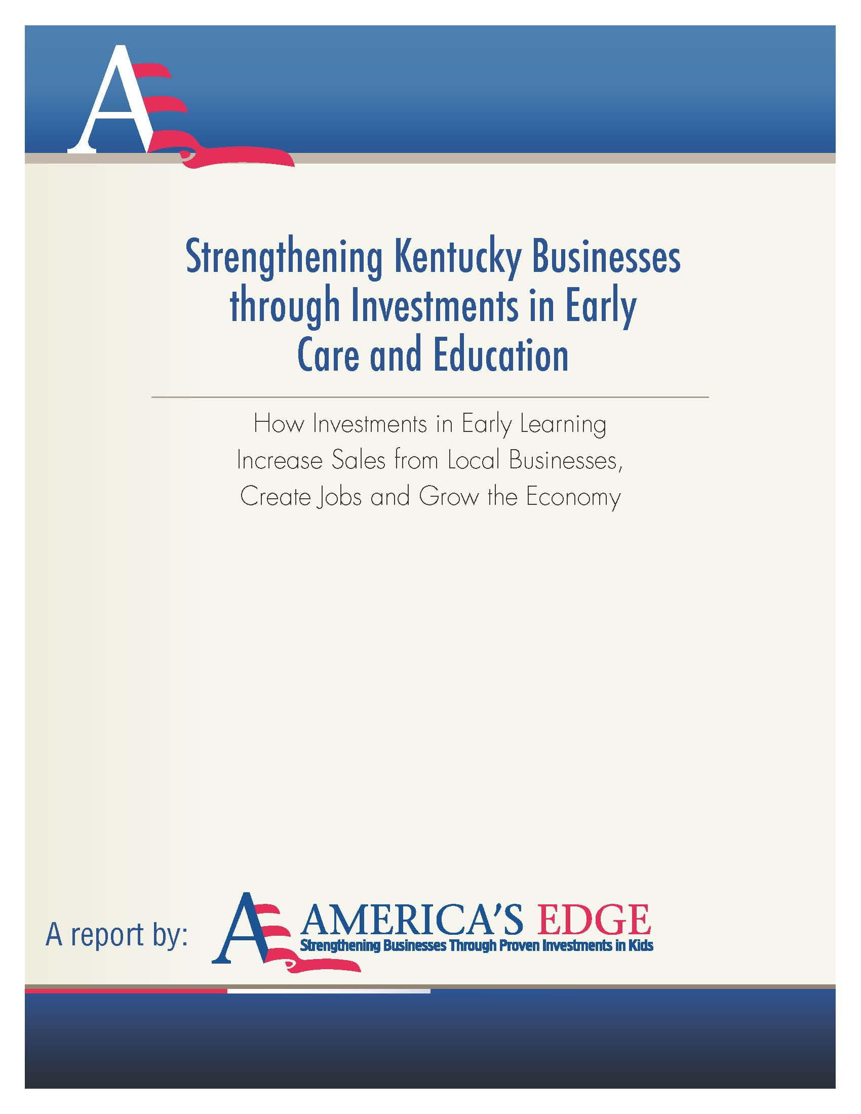 cover page from ky early ed economic analysis report