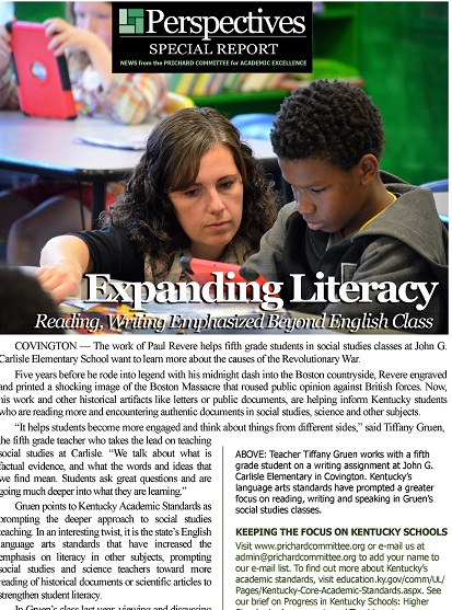 PERSPECTIVES SPECIAL REPORT | Expanding Literacy: Reading, Writing Emphasized Beyond English Class