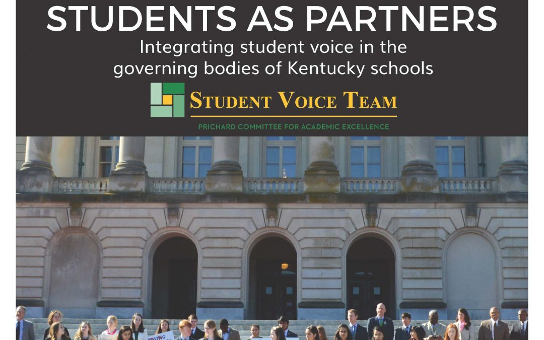 PRESS RELEASE | Students As Partners: Integrating Student Voice in the Governing Bodies of KY Schools