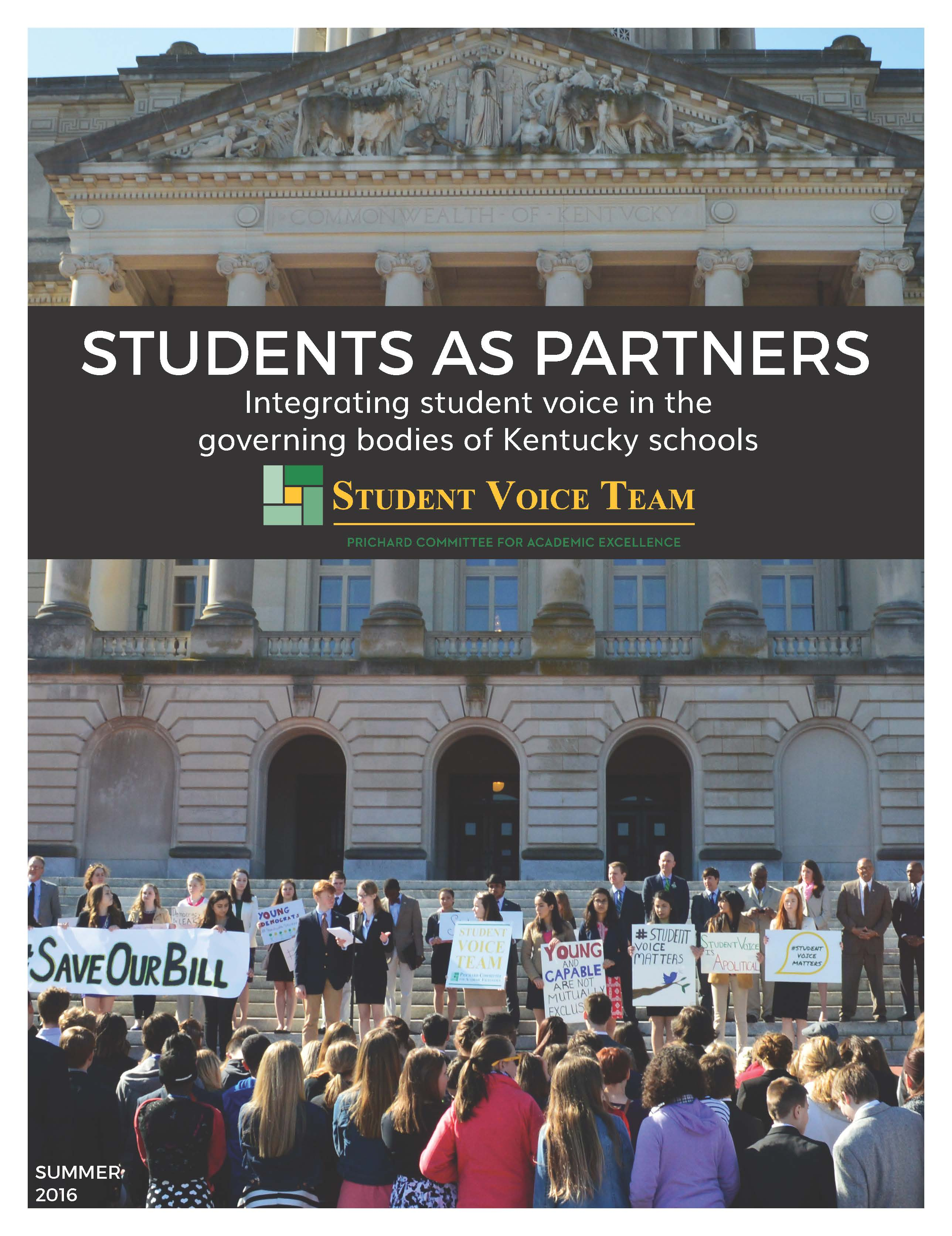 Students as Partners: Integrating Student Voice in Kentucky Schools