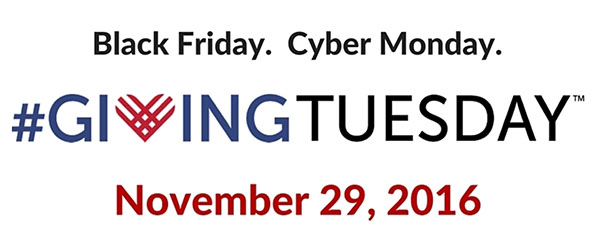 Your Support is Appreciated! GIVING TUESDAY, Nov. 29