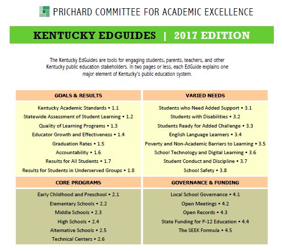 Kentucky EdGuides: 2017 Edition
