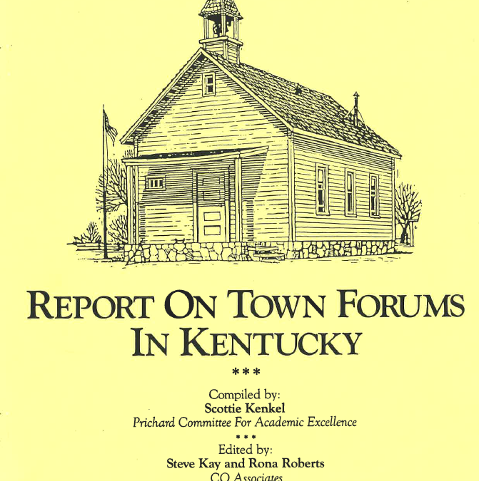 Report on Town Forums in Kentucky