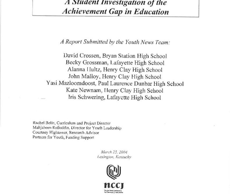 YOUTH NEWS TEAM | The Achievement Flap: A Student Investigation of the Achievement Gap in Education