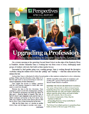 PERSPECTIVES SPECIAL REPORT | UPGRADING A PROFESSION