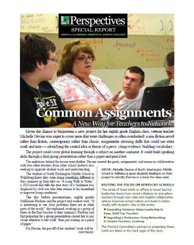PERSPECTIVES SPECIAL REPORT | Common Assignments
